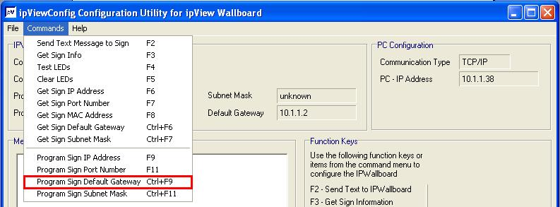 check the communication IP address and the IP address of the PC). 11.