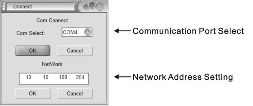 channel I Input source type setting E System menu J Channel connect Connection In order for the PC to communicate with the