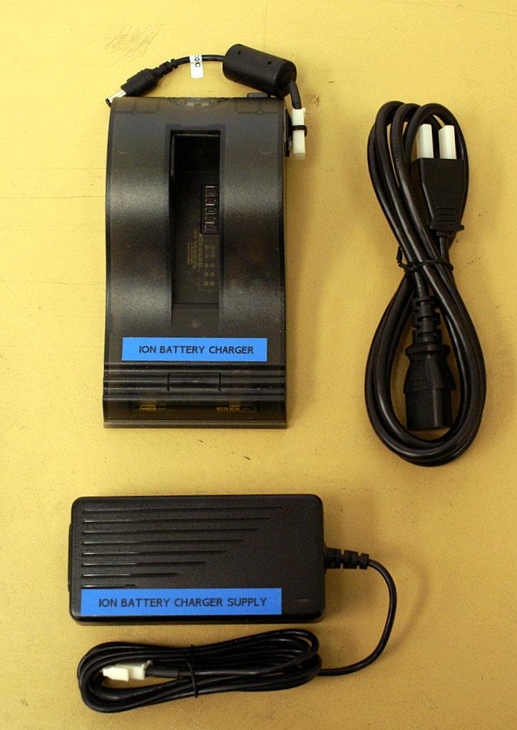 6A Output: Plug ION BATTERY CHARGER SUPPLY into ION BATTERY CHARGER. Install one battery and charge if needed.