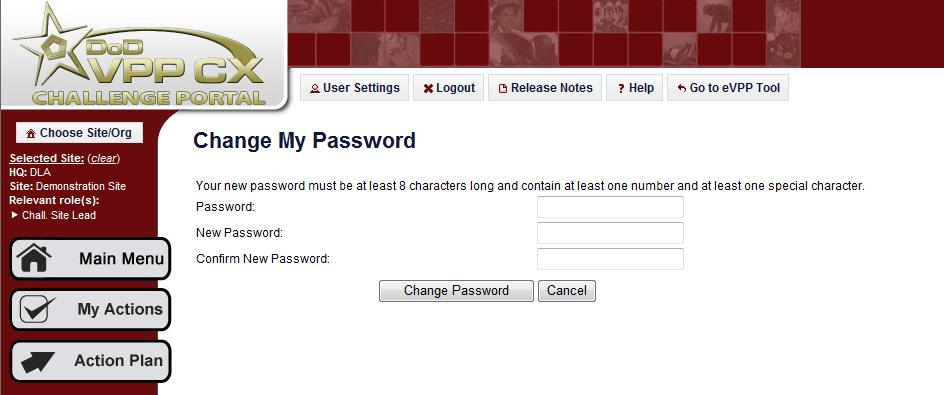 Type the new password into second field (New Password).