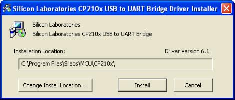 Installing the USB Drivers The following is the procedure to decompress the drivers:. Double-click CP0x_VCPInstaller.
