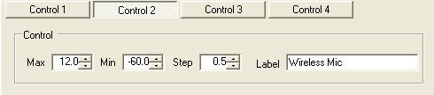 You can set the max, and min levels, and step size for each control in the four banks of selector knobs. Figure 5.