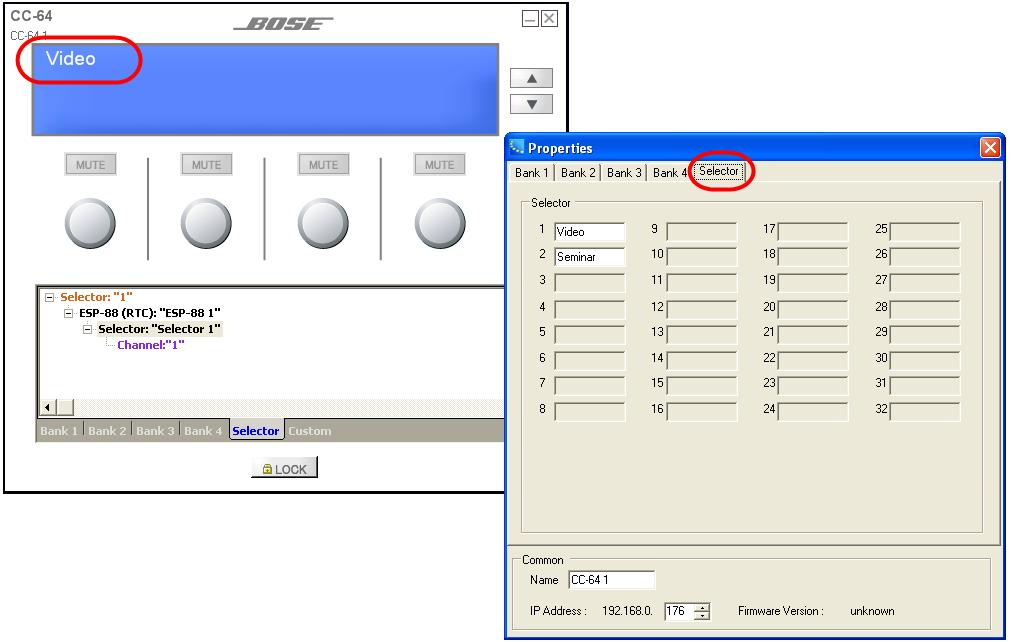 20 - Bank Selector fields Select the Selector tab to enter the labels that are displayed for