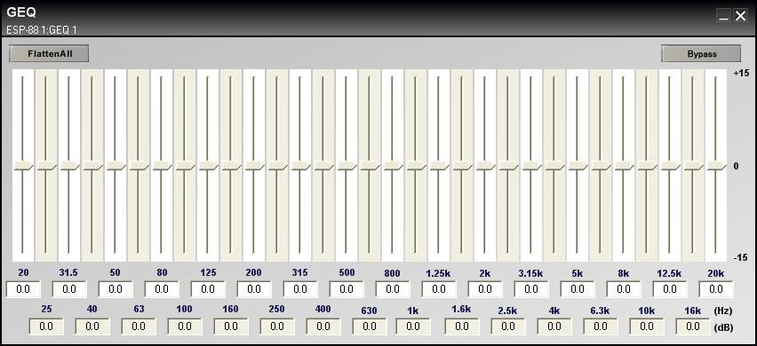 1/3 Oct Graphic EQ Figure 7.8-1/3 Oct Graphic EQ The 1/3 octave graphic equalizer boosts or cuts output level at 31 different frequencies from 20 Hz to 20 khz.