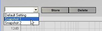 Sort Press the Sort button to sort the filters from lowest to highest center frequency. Storing and saving equalization settings Use the Store button to store the current EQ settings.