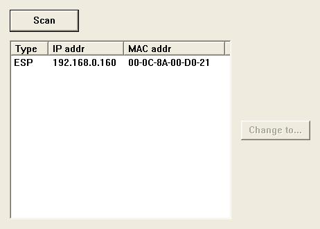 Use more than one ESP-88 Each ESP-88 is shipped with the IP address set to 192.168.0.160.
