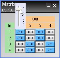 Like the standard mixer, matrix mixers are used to route inputs to outputs, but have the added ability to adjust the signal level at each routing juncture.