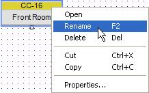 Any ESP-88, CC-64 and CC-16 in your design can be renamed. Select the icon and press F2, or right click and choose Rename. Figure 3.