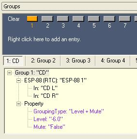 You can view the contents of a group by expanding the tree structure for a group in the Groups window.