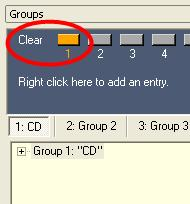 Figure 4.7 - Group tree structure After storing a group, the Clear button in the Groups window is highlighted in orange.