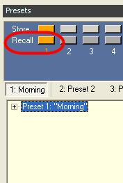 26 - Rename a preset To recall the system to the state that is stored in the preset,