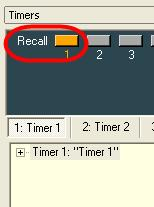Recalling timers To recall the system to the state that is stored in the timer, press the Recall button in the Timers window. Figure 4.