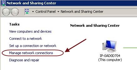 Open the Network and Sharing Center from the Control Panel. 12.