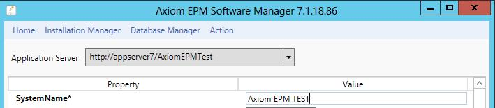 Refreshing Axim TEST The SystemName value will cntain the PROD system name; change this t be yur TEST system name. Click Update t accept these changes.