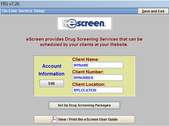 I. Setting up credentials fr using the escreen mdule 1. T activate yur escreen mdule, yu must be licensed fr eclientlink Advanced Feature Set #7. 2.