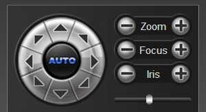2.3 PTZ Control PTZ control: you can use eight directional keys to rotate front-end devices, and AUTO indicates auto-rotation.