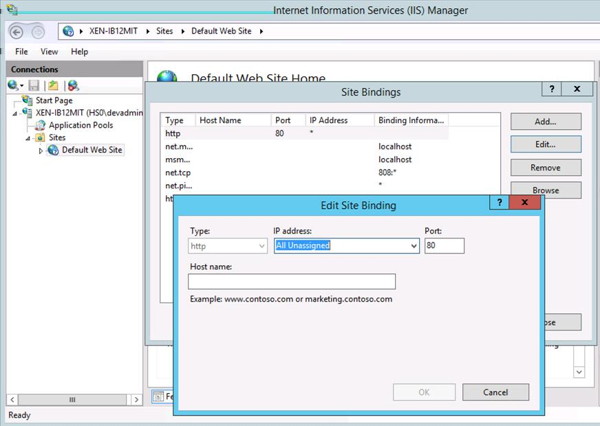 2 In IIS Manager, configure the default application pool or the one you set up to use with Integration Broker. a b Click the application pool. Verify these requirements..net Framework version 2.