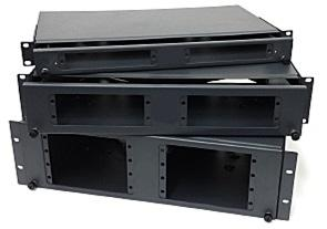 Includes mounting and cable/fibre management hardware kit. Rugged steel construction with durable powder coat finish, Grey colour. Suitable for various unterminated and pre-terminated cables.