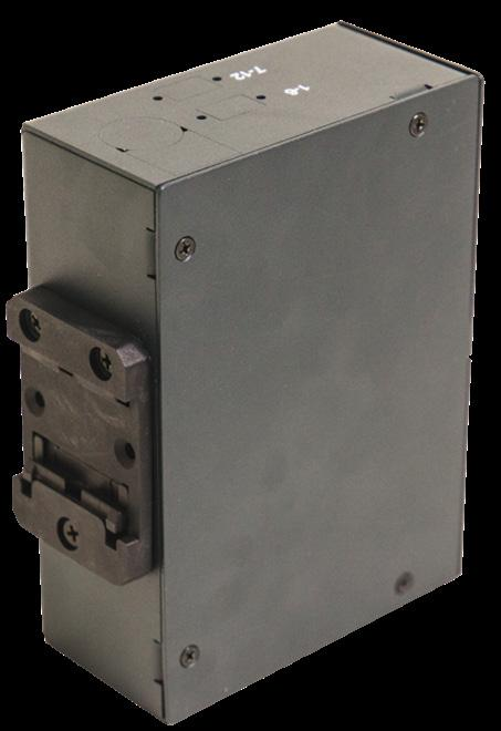 This compact enclosure makes it possible to direct terminate or fusion splice in