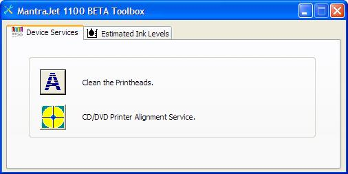 Printer Services: Printer services option can be access from either a Features or a Color tab of a Printing Preferences. Estimated Ink Levels Displaying the ink level.