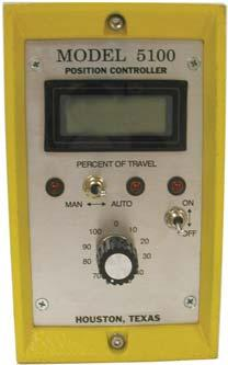 Position/Process Control Remote Model 5100 Solid-state, closed-loop, panel-mount controller for use with single phase, motor-driven actuators.