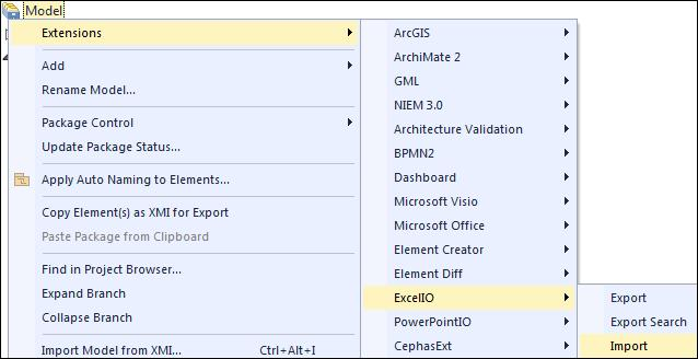 Re-imprting mdel data frm Excel Excel Extensins User Guide After an exprted Excel file has been manually updated, the User may want t uplad the values back int EA.