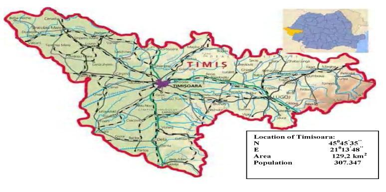 LOCATION OF THE AREA UNDER STUDY Timişoara municipality (Figure 4) is among the first cities in Romania to develop a general project for urban planning. Figure 4.