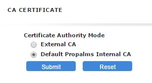 6. CA CERTIFICATE: Select to create a self-signed CA certificate 7.