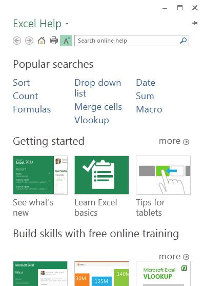 How to get started with Excel 2013 If you ve been using Excel 2007 or 2010 and are familiar with the ribbon, you ll want to know what changed in Excel 2013.