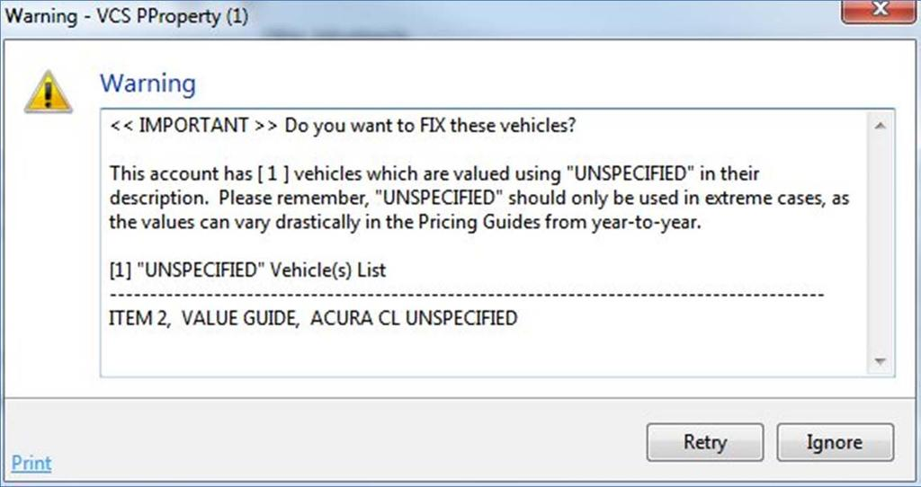 #8 Unspecified Items You have been warned In the update document.