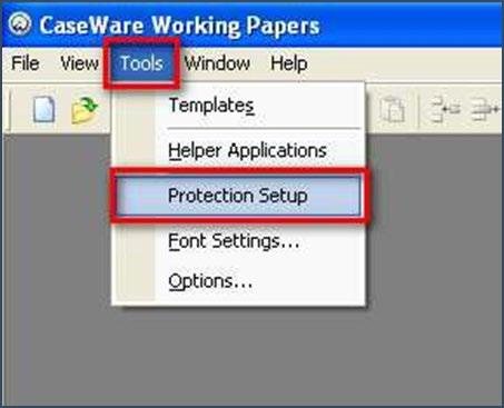 8. Setting up users T setup / amend users in CaseWare