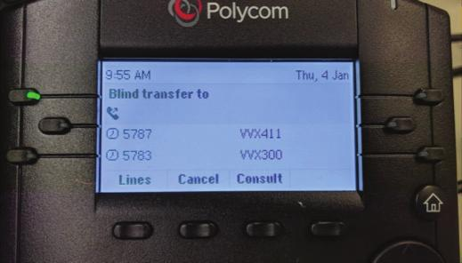 Warm (Attended) Transfer Allows you to confirm that the person you want to transfer the call to is available and willing to take the call. 1.