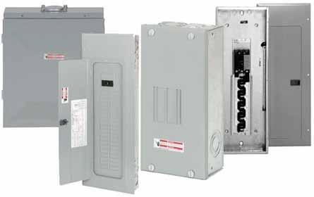 .2 Loadcenters and Circuit Breakers Overview Product Selection Guide BR Loadcenters Description Service Single-phase, three-wire, 20/240 Vac Short-Circuit Current Rating 0 kaic: All single- and