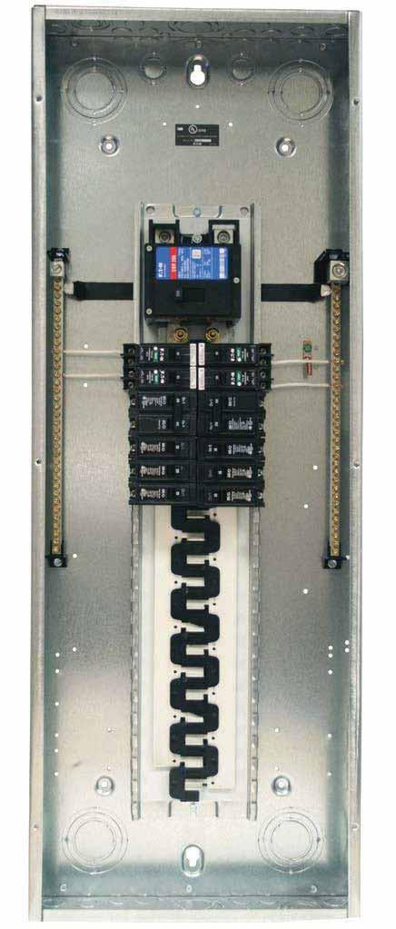 .2 Loadcenters and Circuit Breakers Type BR Loadcenter Extra.5 inch Knockout (38.
