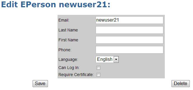 1. T register a new user first click the E-Peple link and then click the Add E-Persn buttn. 2.