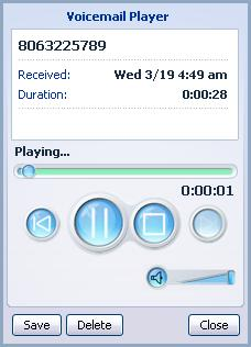 3.1.1 Listen To a Message To listen to a message click on the loudspeaker icon to the left of the message:.