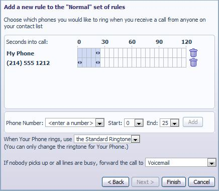 1. Add the first phone number to ring by entering a number in the Phone Number Field 2.