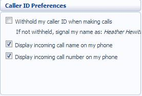 9.4.4 Voicemail Preferences The Voicemail Preferences section shows you information about your voicemail: Figure 61: Settings Voicemail Preferences Enter the number of seconds in which you want your