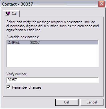 Calling the sender of a message You can respond to a message with a telephone call instead of a recorded message.