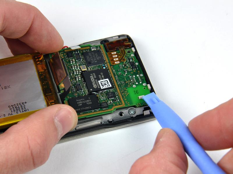 Do not attempt to completely remove the battery from the inner chassis as it is still attached to the