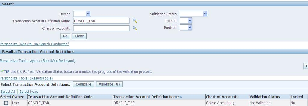 Step4 : Compile the Transaction Account Definitions.