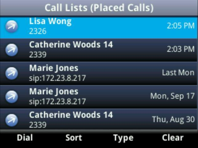 Placing Calls from Favourites, Recent Calls, and Directories In addition to the Dialler, you can place calls from the Recent Calls list, Favourites list, or your Directory.