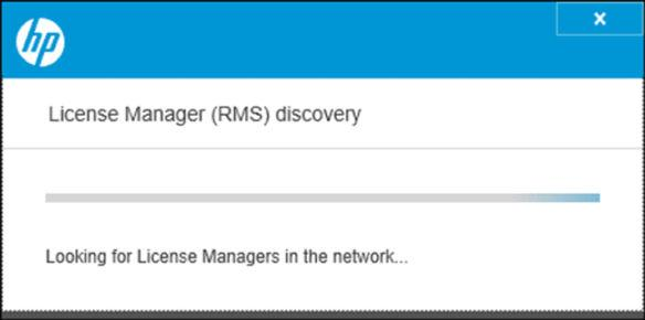 2. The application will automatically search for all the License Manager