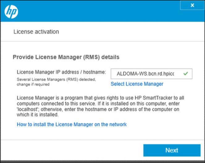 3. Once the search for License Manager installations finishes you will see a window similar to the one below: If the