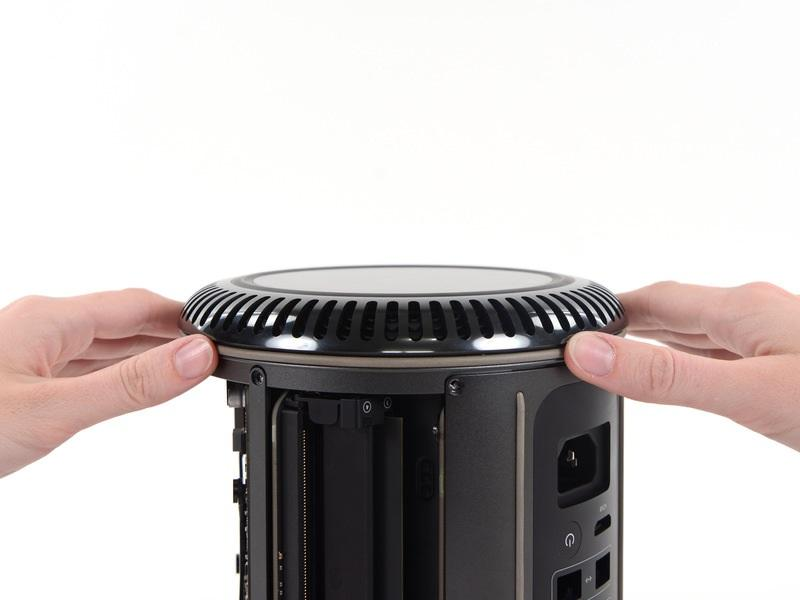 Step 9 Lower Case Flip the Mac Pro upside down, 180 degrees.