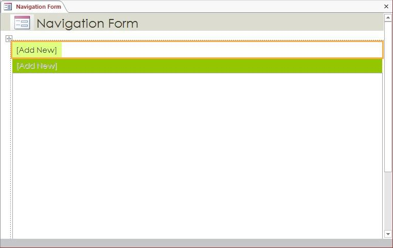 We ve now created two new forms, one exclusively for data lookup and the other exclusively for data entry. Now let s create a navigation form so that the new forms are easy to identify and access.