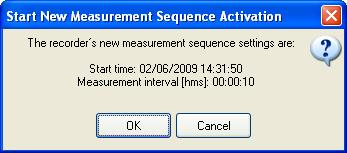 Step 5 - Start a New Measurement Sequence If you are using the wizard, the software will automatically start the new measurement sequence (start recording) and
