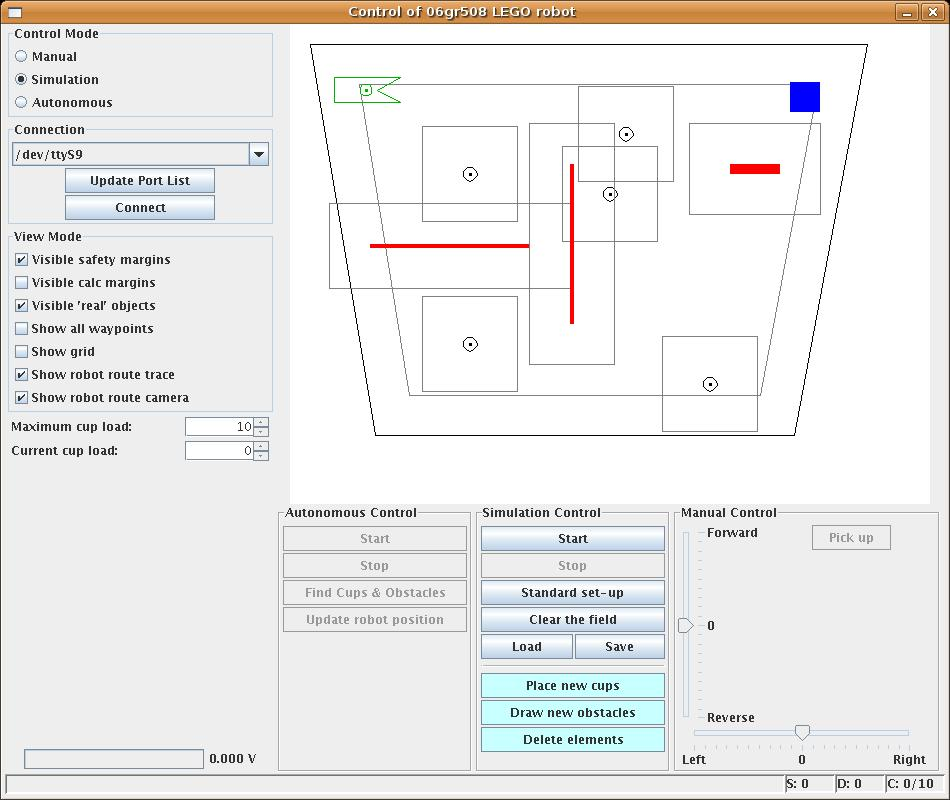 Robot Control Software 8 Robot Control Software This chapter introduces the user interface that enables the user to interact with the system.