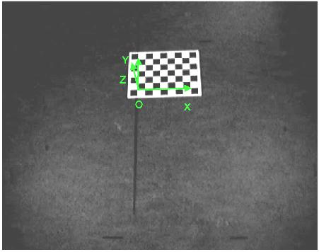 A.1 Camera Calibration As input for the calibration, the Camera Calibration Toolbox requires images of a black and white square patterned board.