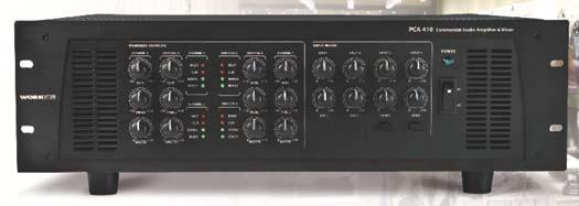The PCA 410 features 4 audio inputs with volume control.